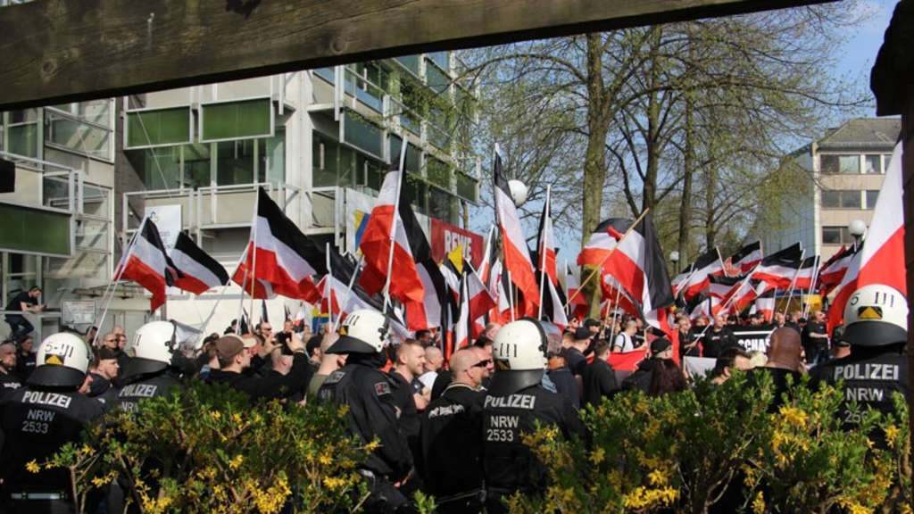 Neonazi-Demo Dortmund am 14. April 2018 Foto: Bianca Hoffmann/RUHR24