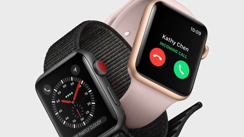 Mögliche Risse im Display der Apple Watch. Bild: Apple