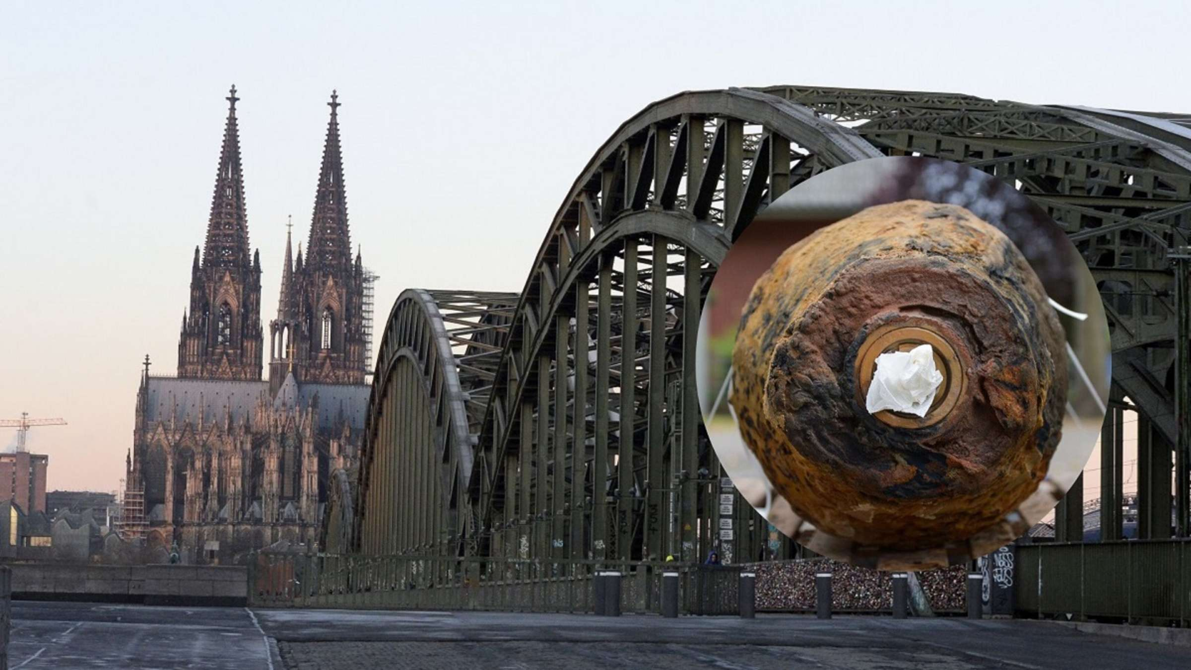 Köln Bombe An Hohenzollernbrücke Entschärft Tv Blondine