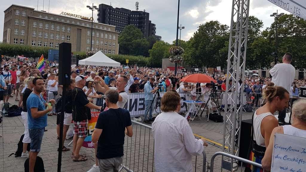 """Die """"Querdenken231""""-Demo am 9. August in Dortmund."""